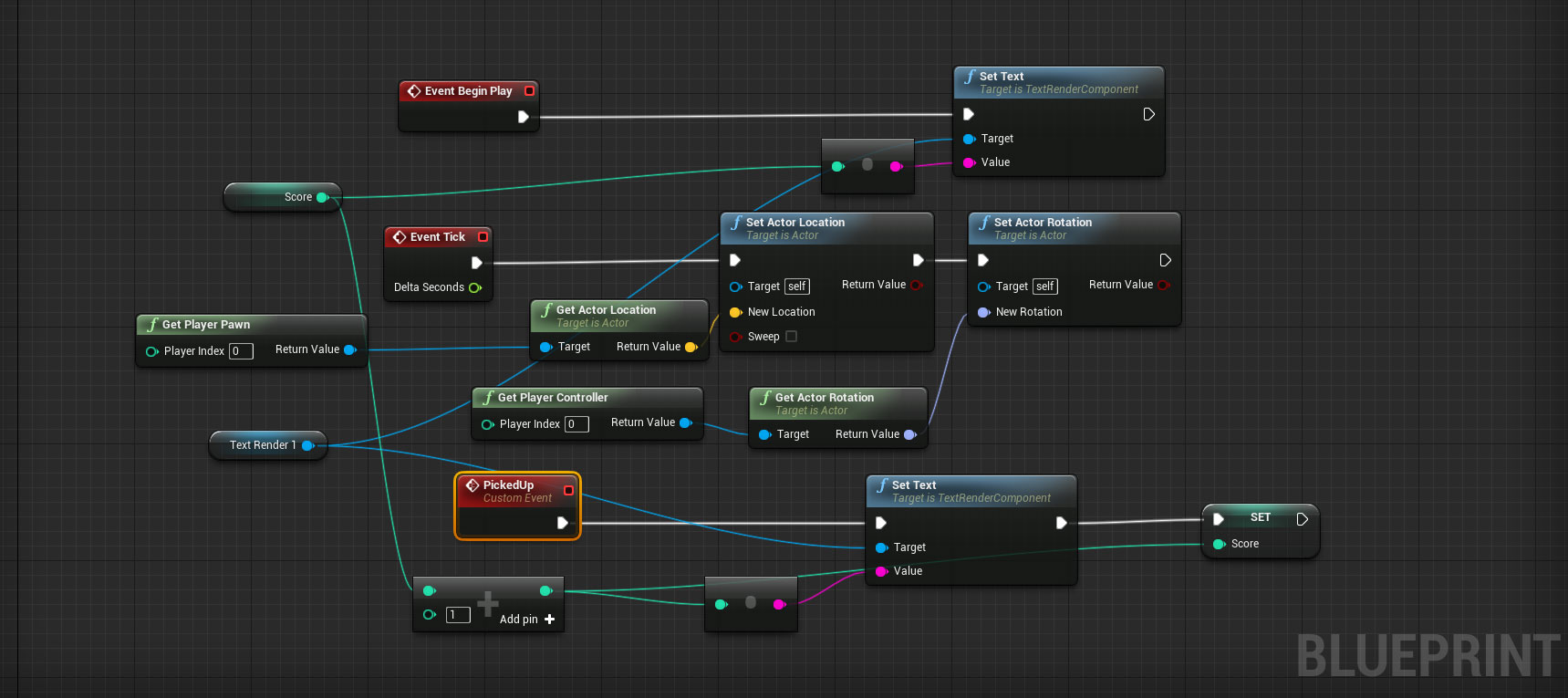 Creating a simple game collect pickups unreal engine forums level blueprint this is where i think some major improvement can be done im just not sure how to go about it i have the pickup event coming from the malvernweather Image collections